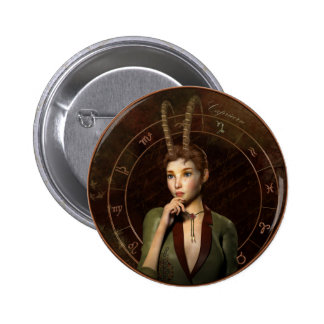Capricorn zodiac sign pin