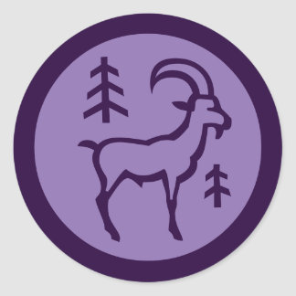 Capricorn Zodiac Sign Round Sticker