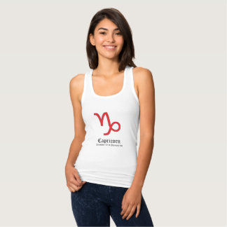 Capricorn zodiac sign tank top