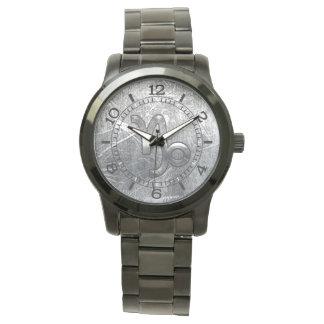 Capricorn Zodiac Symbol Industrial Style Dial Watch