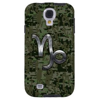 Capricorn Zodiac Symbol Woodland Camouflage