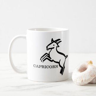 Capricorn Zodiac Vintage Goat Horoscope Coffee Mug