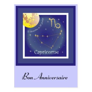Capricorne 22 décembre outer 20 January four Postcard