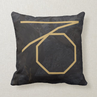 Capricornus Zodiac Sign | Custom Background Throw Pillow