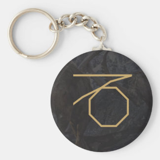 CapricornusZodiac Sign | Custom Background Basic Round Button Keychain