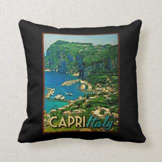 Capris Italy Vintage Travel Throw Pillow
