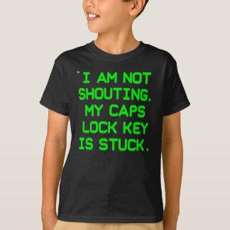 Caps Lock Key CRT (kids) T-Shirt