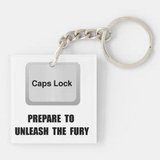 Caps Lock Keychain