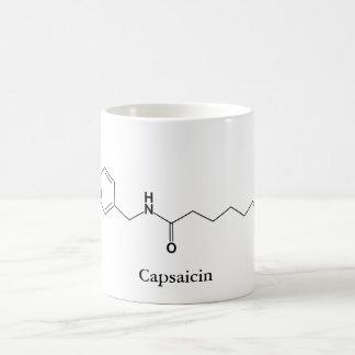 Capsaicin Molecule Chemistry Spicy Food Lovers Coffee Mug