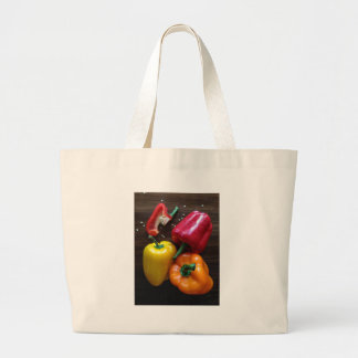 Capsicums... Large Tote Bag