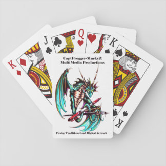 Capt Frogger-MarkyZMMP Logo Playing Cards