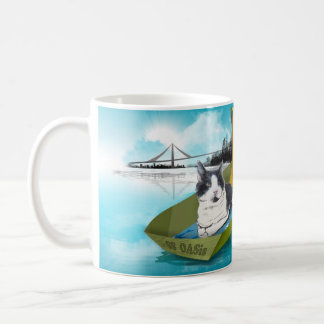 Capt Oliver & the SS OASis (Cat in boat mug) Coffee Mug