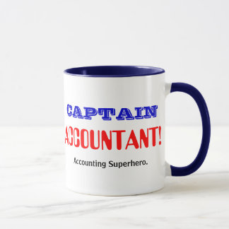 Captain Accountant Accounting Superhero Mug