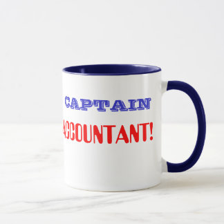 Captain Accountant Retro Super Hero CFO CPA Mug