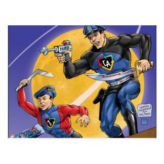 Captain Action Classic Postcard