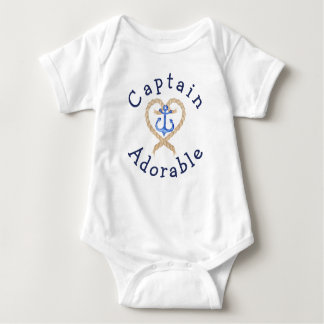 Captain Adorable Cute Nautical Baby Baby Bodysuit