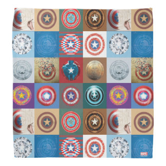 Captain America 75th Anniversary Shield Patchwork Bandana