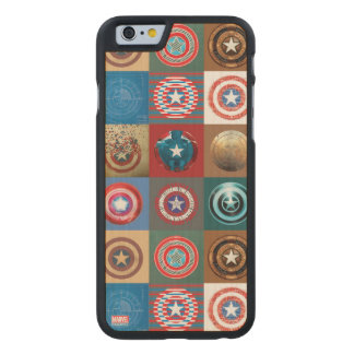 Captain America 75th Anniversary Shield Patchwork Carved® Maple iPhone 6 Case