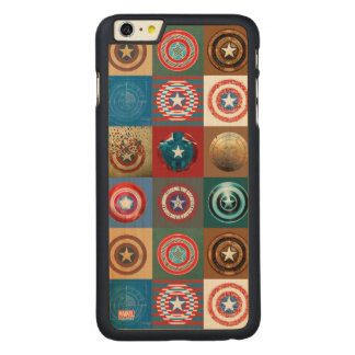 Captain America 75th Anniversary Shield Patchwork Carved® Maple iPhone 6 Plus Case