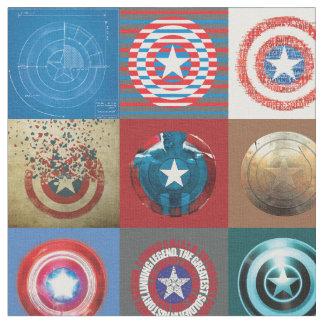 Captain America 75th Anniversary Shield Patchwork Fabric