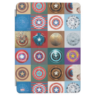 Captain America 75th Anniversary Shield Patchwork iPad Air Cover