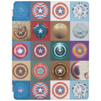 Captain America 75th Anniversary Shield Patchwork iPad Cover