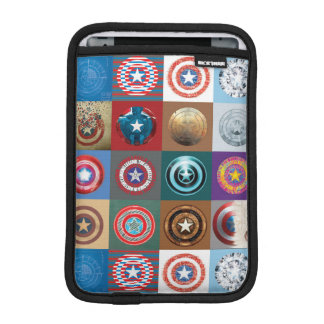 Captain America 75th Anniversary Shield Patchwork iPad Mini Sleeve