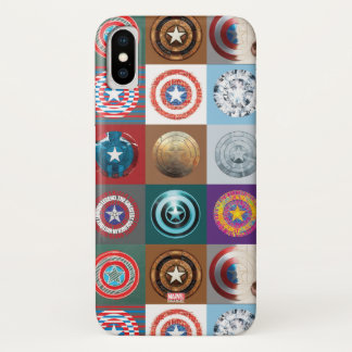 Captain America 75th Anniversary Shield Patchwork iPhone X Case
