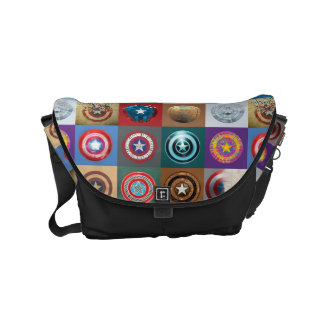 Captain America 75th Anniversary Shield Patchwork Messenger Bags