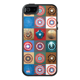 Captain America 75th Anniversary Shield Patchwork OtterBox iPhone 5/5s/SE Case