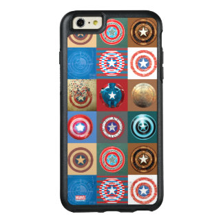 Captain America 75th Anniversary Shield Patchwork OtterBox iPhone 6/6s Plus Case