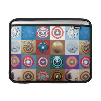 Captain America 75th Anniversary Shield Patchwork Sleeves For MacBook Air