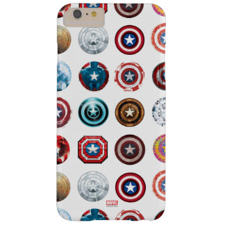 Captain America 75th Anniversary Shield Pattern Barely There iPhone 6 Plus Case