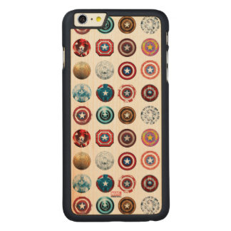 Captain America 75th Anniversary Shield Pattern Carved® Maple iPhone 6 Plus Case