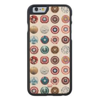 Captain America 75th Anniversary Shield Pattern Carved® Maple iPhone 6 Slim Case