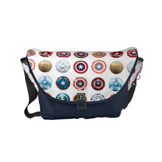 Captain America 75th Anniversary Shield Pattern Courier Bags