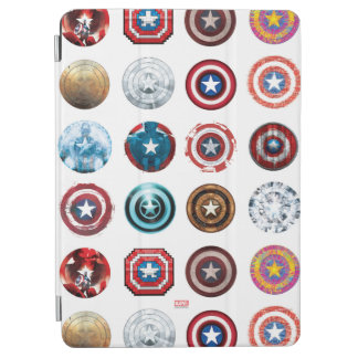 Captain America 75th Anniversary Shield Pattern iPad Air Cover
