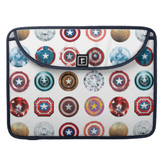 Captain America 75th Anniversary Shield Pattern MacBook Pro Sleeve