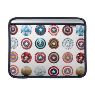 Captain America 75th Anniversary Shield Pattern MacBook Sleeves