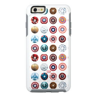 Captain America 75th Anniversary Shield Pattern OtterBox iPhone 6/6s Plus Case