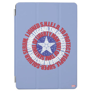 Captain America Alias Typography Shield iPad Air Cover