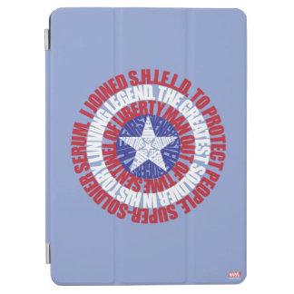 Captain America Alias Typography Shield iPad Air Cover