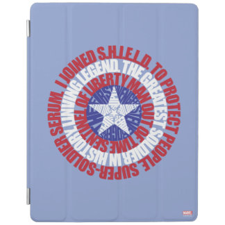 Captain America Alias Typography Shield iPad Cover