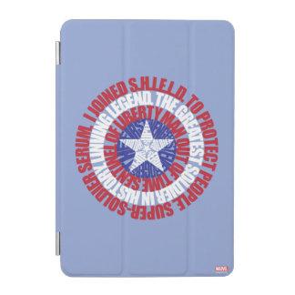 Captain America Alias Typography Shield iPad Mini Cover