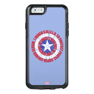 Captain America Alias Typography Shield OtterBox iPhone 6/6s Case