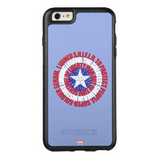 Captain America Alias Typography Shield OtterBox iPhone 6/6s Plus Case