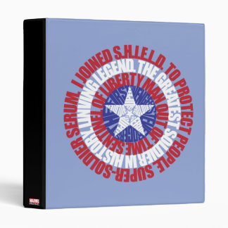 Captain America Alias Typography Shield Vinyl Binders