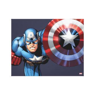Captain America Assemble Canvas Print