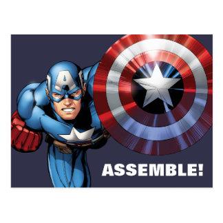 Captain America Assemble Postcard