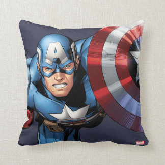 Captain America Assemble Throw Pillow